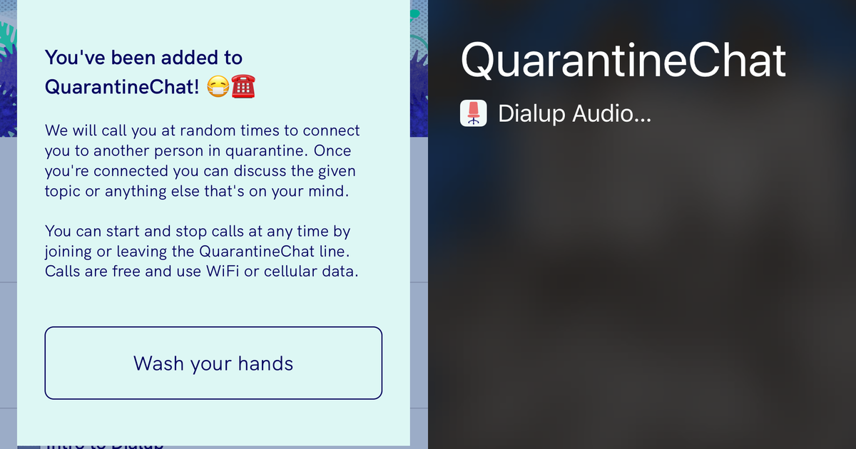 Internet marketing QuarantineChat is here to help us survive social distancing