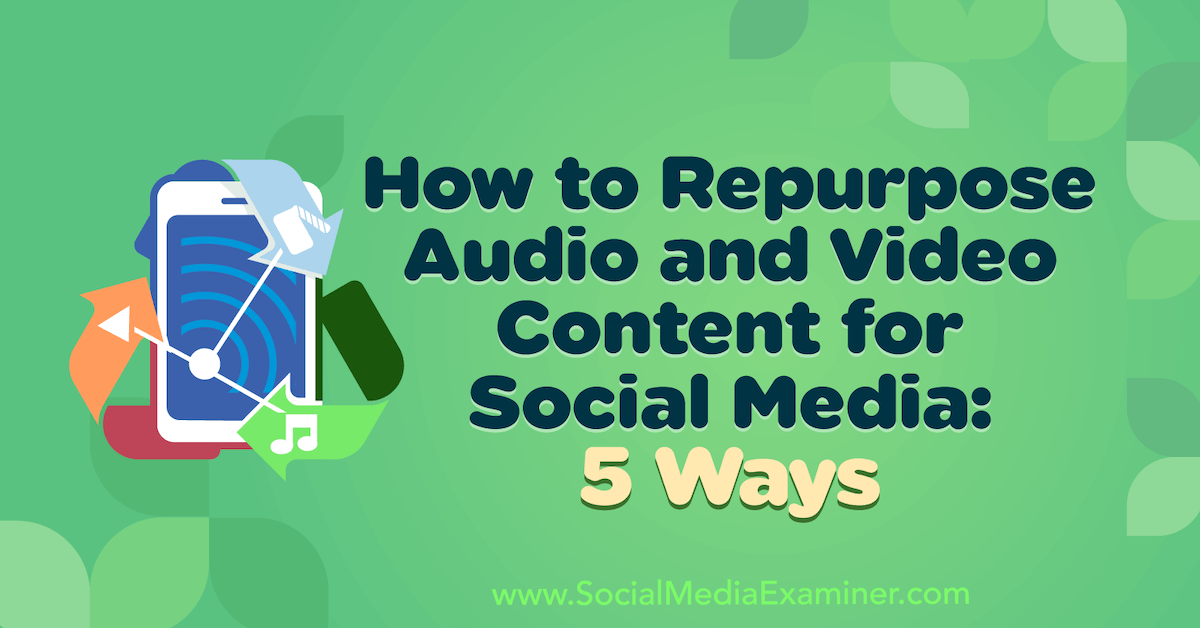 Internet marketing How to Repurpose Audio and Video Content for Social Media: 5 Ways